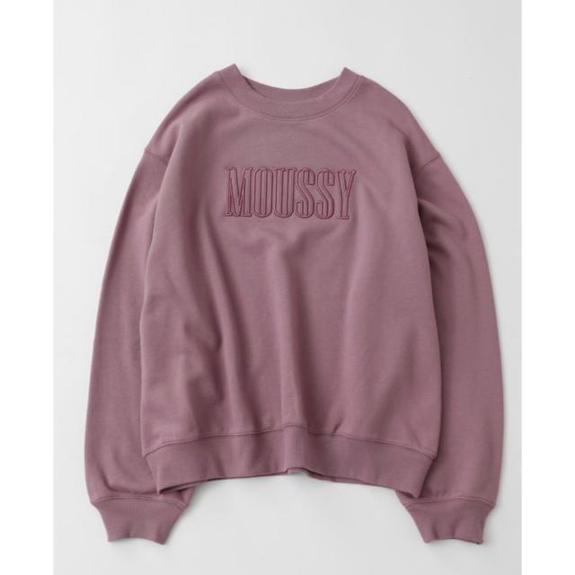 moussy(マウジー)の【新品・完売商品】moussy スウェット トレーナー ピンク パープル レディースのトップス(トレーナー/スウェット)の商品写真