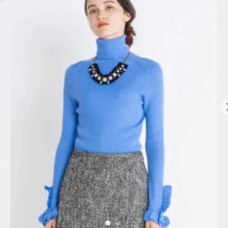 ランバンオンブルー(LANVIN en Bleu)の新品 ランバンオンブルー VERY掲載  フリルニット(ニット/セーター)