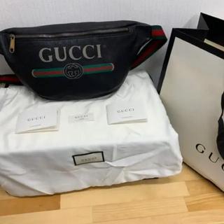 Gucci - 【正規品】GUCCI ロゴウエストバック