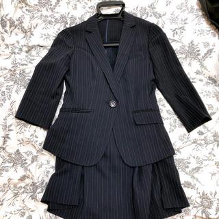 アールユー(RU)の夏用レディーススーツ ネイビー 3号(スーツ)
