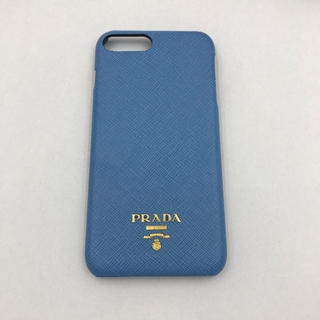 プラダ(PRADA)の【新品未使用】 PRADA  iPhoneケース 7、8 puls 水色 (iPhoneケース)