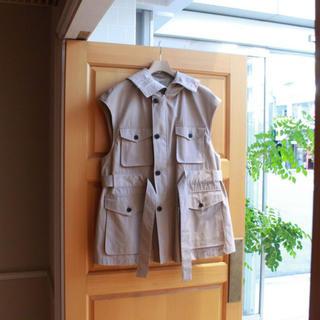 DIGAWEL - 【19ss即完品】 uru cotton zipup vest