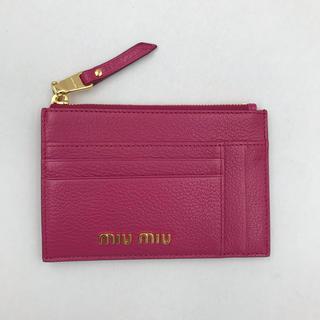 miumiu - 【新品未使用】miumiu ミュウミュウ フラグメントケース ピンク