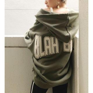 GYDA - GYDA 新品 BLAHBLAH ZIP UP スウェット パーカー