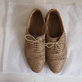 LUCA GROSSI ルカグロッシ 35 メッシュ ベージュ(ローファー/革靴)