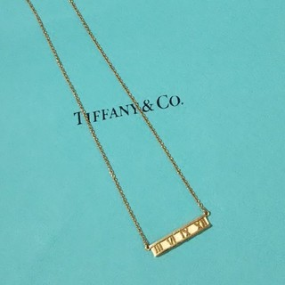 Tiffany & Co. - TIFFANY アトラス ネックレス YG ティファニー ゴールド ネックレス