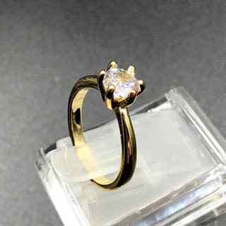 7号イエローゴールド!ラグジュアリーAAA級CZダイヤモンド/エタニティリング(リング(指輪))