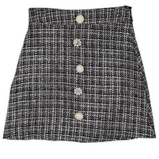 evelyn - An MILLE ツイードパールボタンスカート
