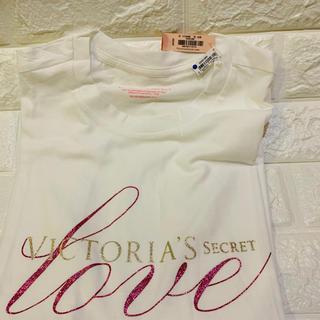 ヴィクトリアズシークレット(Victoria's Secret)のヴィクトリアシークレット空港限定 半袖Tシャツ サイズXS(Tシャツ(半袖/袖なし))
