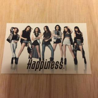 ハピネス(Happiness)のHappiness☆リリースイベント限定ステッカー(^○^)(ミュージシャン)