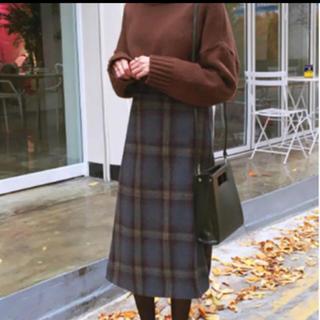 dholic - チェックスカート  膝丈 チェック柄 スカート