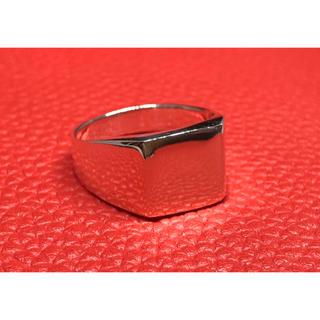 印台 シルバー925 リング 22号 スクエア ギフト 銀 指輪シンプル ハンコ