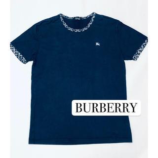 BURBERRY BLACK LABEL - バーバリー 半袖 Tシャツ 紺色 サイズ3  L