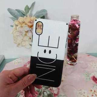 iPhoneX NICE スマイル バイカラー ソフトケース ★ブラック★(iPhoneケース)
