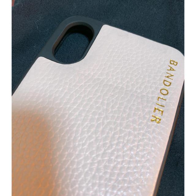 バンドリヤー iphoneX 美品 ベビーピンク iPhoneケース スマホ/家電/カメラのスマホアクセサリー(iPhoneケース)の商品写真