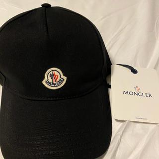 MONCLER - 新品 2020SS MONCLER ロゴ キャップ ブラック