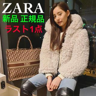 ZARA - 激レア ザラ ファー ジャケット フェイクファー ボア コート パーカー ブーツ