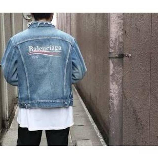 Balenciaga(バレンシアガ)のバレンシアガキャンペーンデニムジャケット44 メンズのジャケット/アウター(Gジャン/デニムジャケット)の商品写真