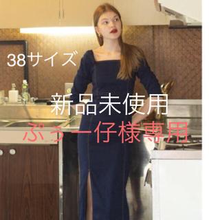 エディットフォールル(EDIT.FOR LULU)の本日限定価格U by spick &span 松田未来 デニムワンピース 38(ロングワンピース/マキシワンピース)