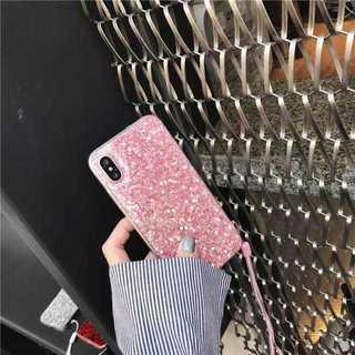 iPhoneX グリッター ラメ キラキラ iPhoneケース ☆ピンク☆(iPhoneケース)