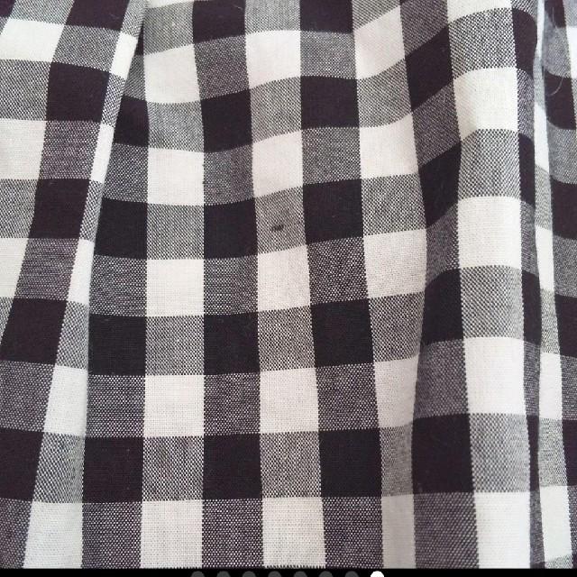 LAISSE PASSE(レッセパッセ)のギンガムチェック刺繍ブラウス ブラック×グレー×ホワイト レディースのトップス(シャツ/ブラウス(長袖/七分))の商品写真