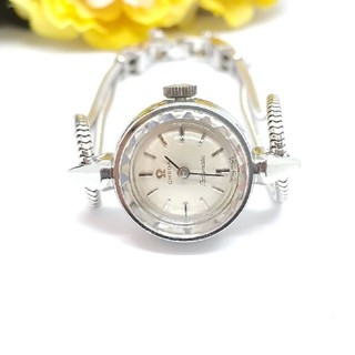 OMEGA - 美品 オメガ レディマチック レディース 自動巻時計 カットガラス