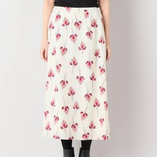 IENA - IENA フラワーモチーフプリント シャーリングスカート