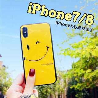 iPhone7 iPhone8 ウインク スマイル ニコちゃん ケース(iPhoneケース)