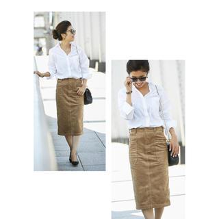 オペーク(OPAQUE)のノスタルジア BAILA掲載 モデルSayakaコラボ エコスエードスカート(ひざ丈スカート)