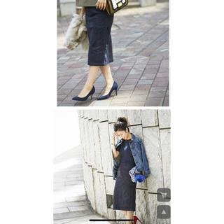 オペーク(OPAQUE)のノスタルジア BAILA掲載モデルSayakaコラボ エコスエードタイトスカート(ひざ丈スカート)