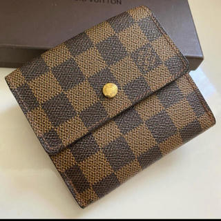 LOUIS VUITTON - 美品正規品ルイヴィトンダミエWホック折財布