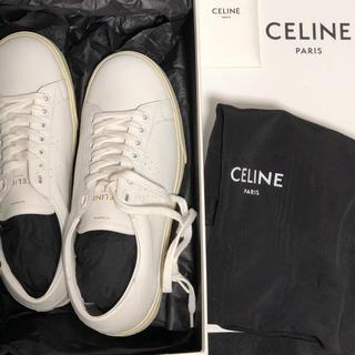 celine - セリーヌ  本革 スニーカー 白 サイズ36 新品 本物 レザースニーカー