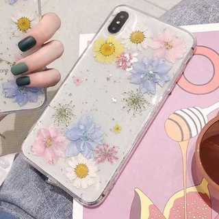 アイフォン カバー iPhone8/7 ケース 花 かわいい 押し花 (iPhoneケース)