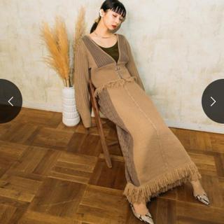グリモワール(Grimoire)のMARTE Fringe Knit Cardigan & skirt set(カーディガン)
