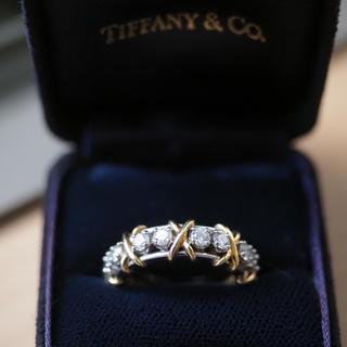 Tiffany & Co. - ティファニー本物ジーンシュランバーゼ16ストーンリングダイヤプラチナ