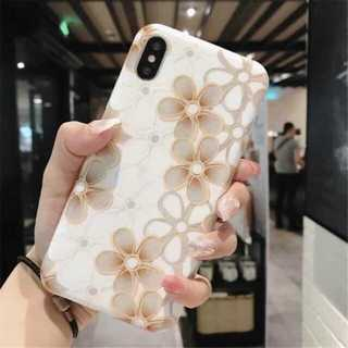 花柄 フラワー レトロ iPhoneXR(iPhoneケース)