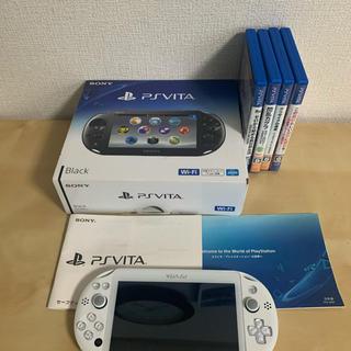 プレイステーションヴィータ(PlayStation Vita)のPlayStation®Vita(PCH-2000シリーズ) ソフト4セット(携帯用ゲーム機本体)
