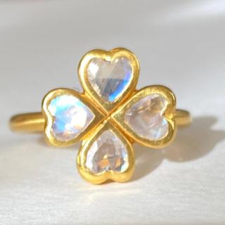 レインボームーンストーンk18ゴールドリング検索 マリーエレーヌ ジェムパレス(リング(指輪))
