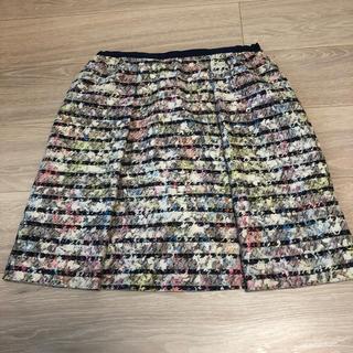 ジャスグリッティー(JUSGLITTY)の♡ジャスグリッティーマルチカラーボーダースカート♡(ひざ丈スカート)