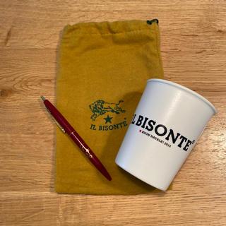 イルビゾンテ(IL BISONTE)のイルビゾンテ ノベルティ カップ&ボールペン(ノベルティグッズ)
