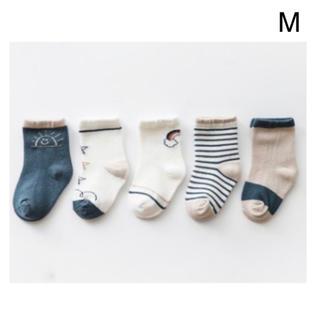 【SALE】5足セット キッズ ベビーソックス 赤ちゃん 靴下 男の子 M