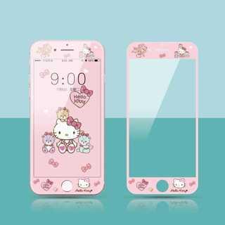 ピンク キティーちゃん  iPhone 用 強化ガラス 全面保護フィルム