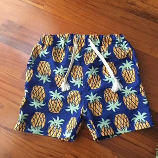 petit main - プティマイン  パイナップル柄 水着 男の子 ハーフパンツ