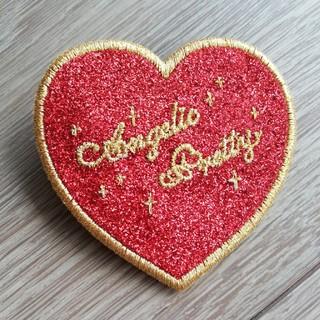 Angelic Pretty - アンジェリックプリティ ハートクリップ 赤×ゴールド
