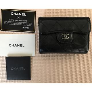CHANEL - シャネル マトラッセ ラムスキン コインケース 財布