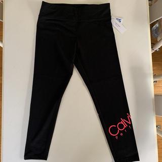 Calvin Klein - ☆新品☆ カルバンクライン ピンクロゴ スパッツ ヨガレギンス L