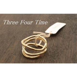 スリーフォータイム(ThreeFourTime)の【T299】Three Four Time スリーフォータイム 3連風 リング (リング(指輪))