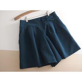 クチュールブローチ(Couture Brooch)の秋冬 ⚫クチュールブローチ⚫ リボン付きフレアーショートパンツ 38 ♪(ショートパンツ)