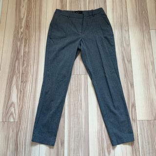 マンゴ(MANGO)のZARA マンゴ ジョガー タック パンツ XS グレー 灰色(カジュアルパンツ)
