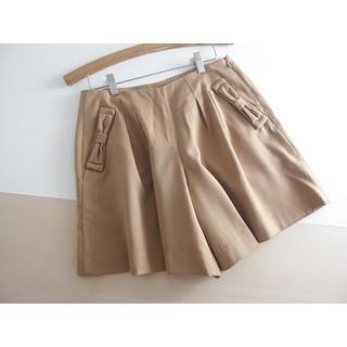 クチュールブローチ(Couture Brooch)の秋冬 ⚫クチュールブローチ⚫ リボン付きタックショートパンツ 38 ♪(ショートパンツ)